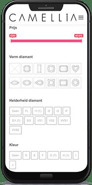 Woocommerce webshop gebouwd voor juwelier Camellia Diamond in Genk